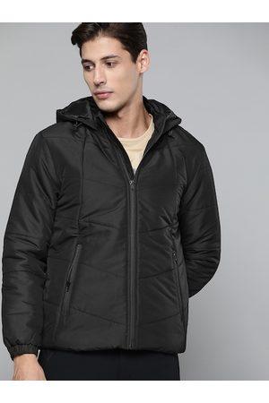 HRX Outdoor Men Jet Black Rapid-Dry Solid Jackets