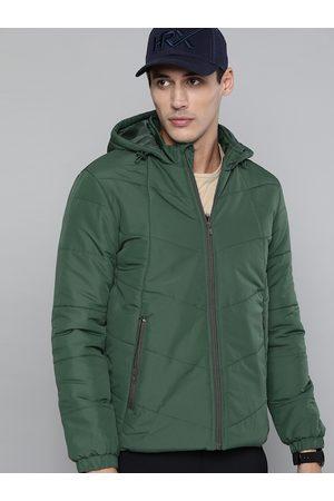 HRX Outdoor Men winter moss Rapid-Dry Solid Jacket