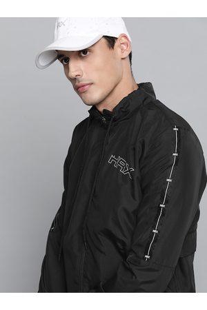 HRX Lifestyle Men Jet Black Rapid-Dry Solid Jackets