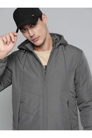 HRX Outdoor Men Wet Weather Rapid-Dry Solid Jacket