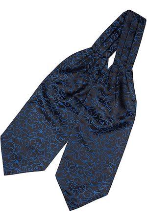 The Tie Hub Men Blue & Black Woven Design Cravat