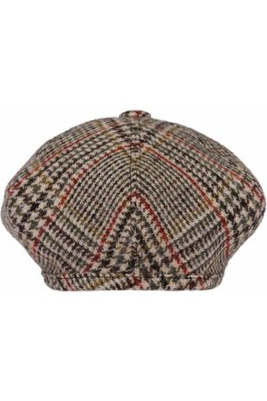 Miu Miu Women Hats - Plaid Shetland wool beret