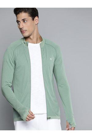 HRX Men Jade Seamless Solid Yoga Jacket