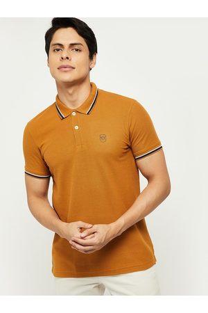 Max Collection Women Yellow Polo Collar T-shirt