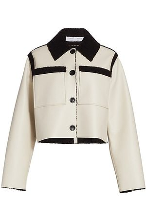 PROENZA SCHOULER WHITE LABEL Teddy-Trimmed Cropped Jacket
