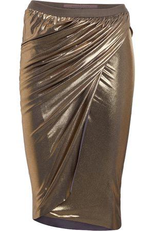 Rick Owens Lilies metallic jersey midi skirt