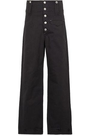 Isabel Marant Darlena high-rise wide-leg cotton pants