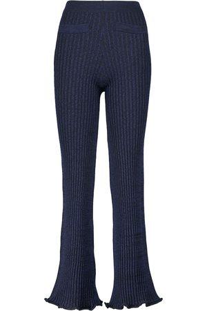 Paco rabanne X Kimura Tsunehisa ribbed wool pants