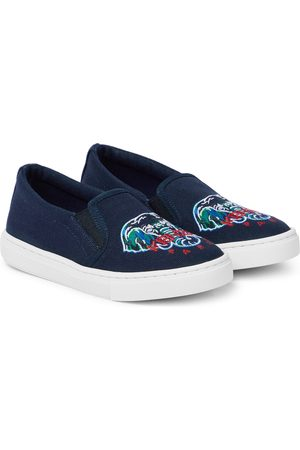 Kenzo Embroidered slip-on sneakers