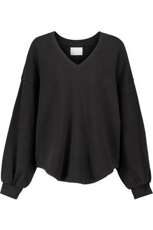 Citizens of Humanity Women Sweatshirts - Vivienne V-neck cotton sweatshirt