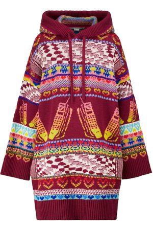 Stella McCartney Intarsia wool-blend hoodie dress