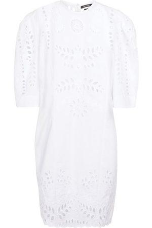 Isabel Marant Women Rainwear - Dallin embroidered cotton minidress