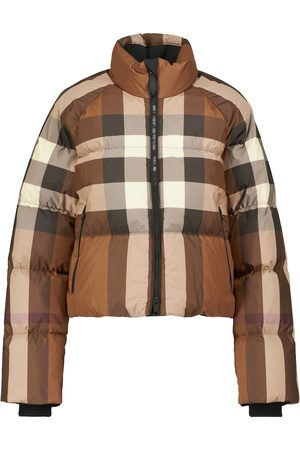 Burberry Women Jackets - Checked down cropped jacket