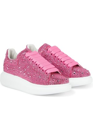 Alexander McQueen Women Sneakers - Crystal-embellished leather sneakers