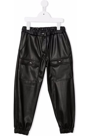 Msgm Faux-leather cargo trousers
