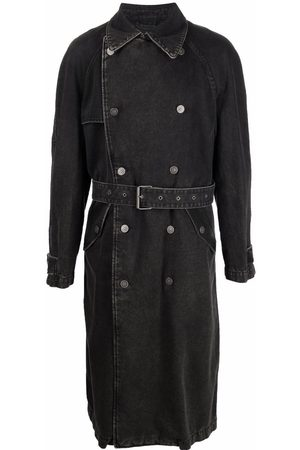 Diesel Double-breasted denim trench coat