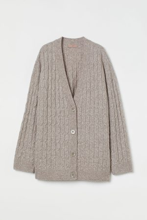 H&M Cable-knit wool-blend cardigan