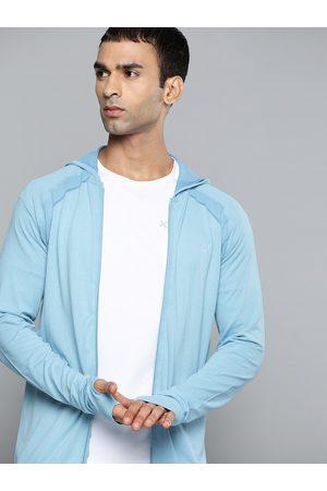 HRX Running Men Delphinium Blue Seamless Solid Jacket