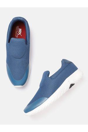 HRX Men Teal Blue Woven Design Go Lite Slip-On Shoes