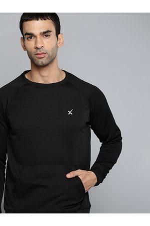 HRX Outdoor Men Jet Black Packable Solid Sweatshirt