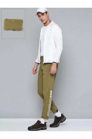 HRX Outdoor Men Uniform Green Packable Solid Trousers