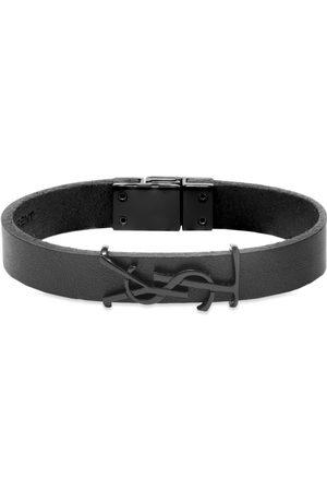 Saint Laurent YSL Logo Single Wrap Bracelet