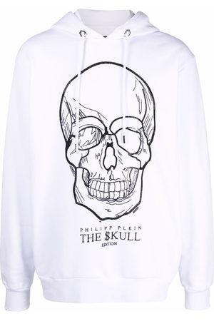 Philipp Plein Jumpers - Crystal-skull pullover hoodie