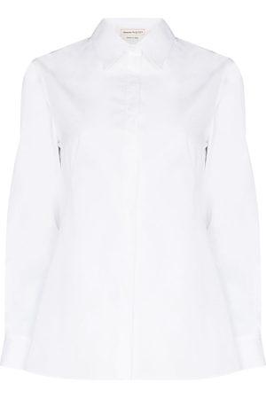 Alexander McQueen Corset-detail long-sleeve shirt