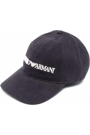 Emporio Armani Men Hats - Embroidered-logo baseball cap