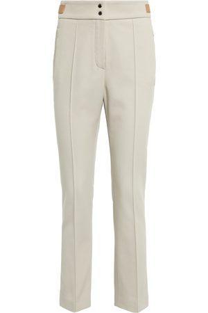 Loro Piana Yosef high-rise slim cotton-blend pants
