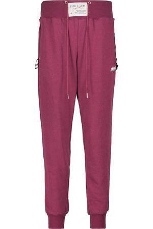 Adam Selman Sport High-rise cotton-blend sweatpants
