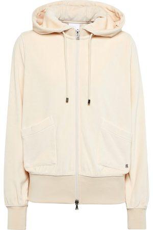 Bogner Leja zipped velvet hoodie