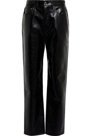 AGOLDE 90s Pinch Waist leather-blend pants