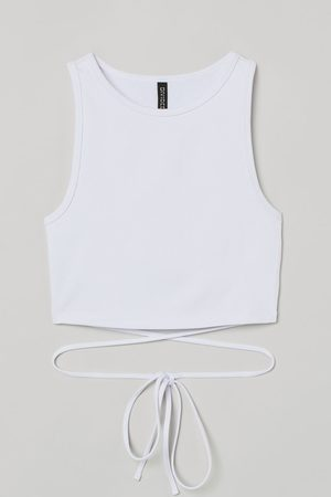 H&M Women Vests - Tie-detail ribbed vest top