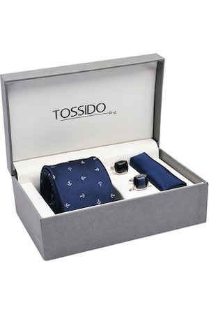 Tossido Men Blue & Silver-Toned Accessory Gift Set