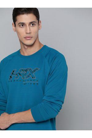 HRX Men Sports sweatshirts - Training Men Blue Beast Rapid-Dry Sweatshirt