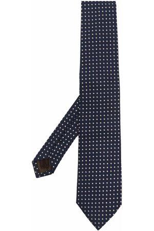 Church's Dotted jacquard silk tie