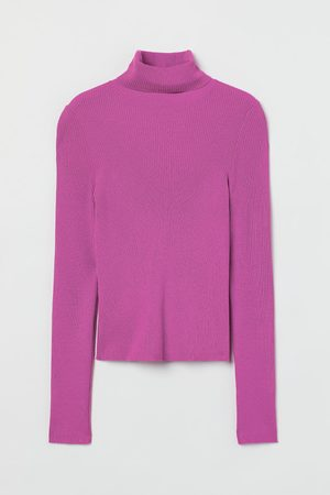 H&M Women Jumpers - Rib-knit polo-neck jumper