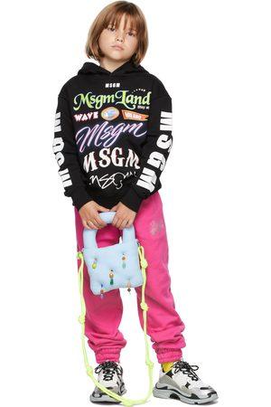 Msgm Kids Multilogo Hoodie