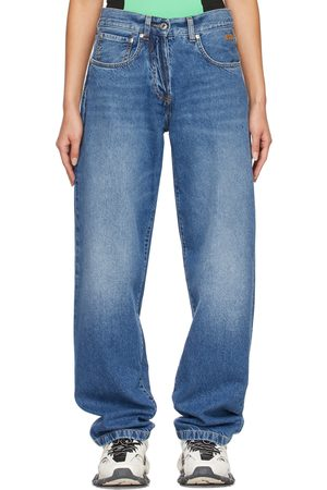 Msgm Women Jeans - Logo Embroidered Jeans