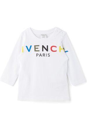 Givenchy Long Sleeve - Baby & Multicolor Logo Long Sleeve T-Shirt
