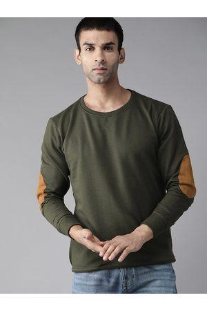 Roadster Men Olive Green Sweatshirt