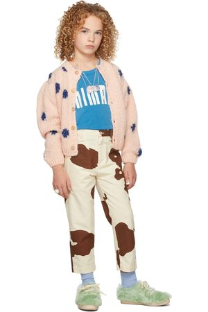 The Animal Observatory Cardigans - Kids Dots Racoon Cardigan