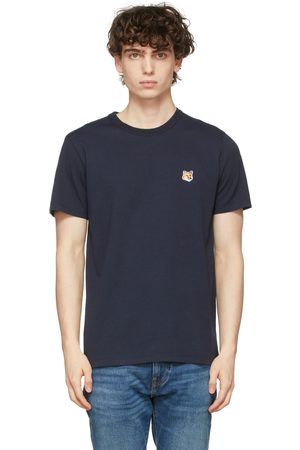 Maison Kitsuné Navy Fox Head Patch T-Shirt