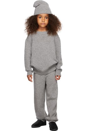 The Row Jumpers - Kids Grey Cashmere Dewey Sweater