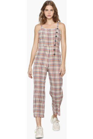 ONLY Women Checked Square Neck Jumpsuit