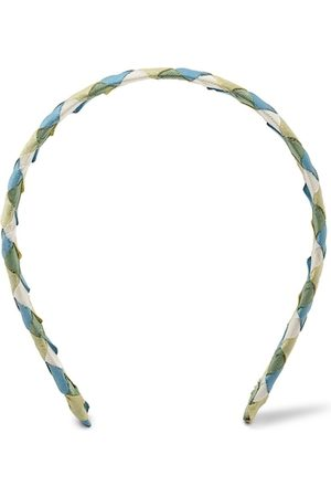 Forever 21 Women White & Blue Fabric & Metal Hairband