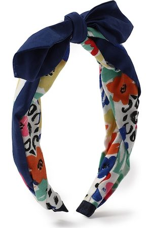 Forever 21 Women Blue & Red Bow Hairband