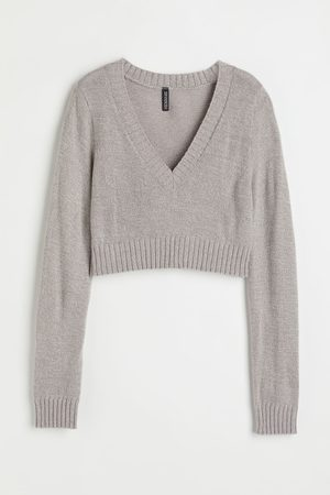 H&M Women Jumpers - Cropped jumper - Grey