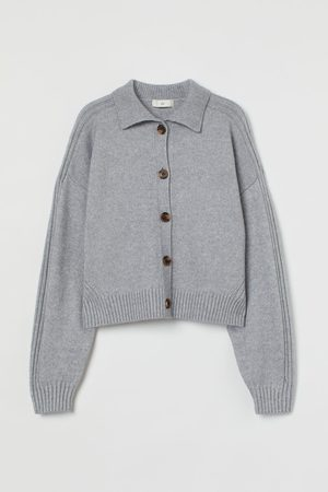 H&M Women Cardigans - Collared knitted cardigan
